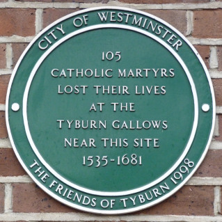 Memorial to Catholic matryrs at Tyburn