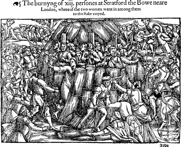 The Stratford Martyrs - illustration from John Foxe's account