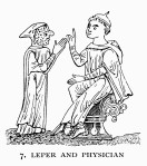 Leper and physician