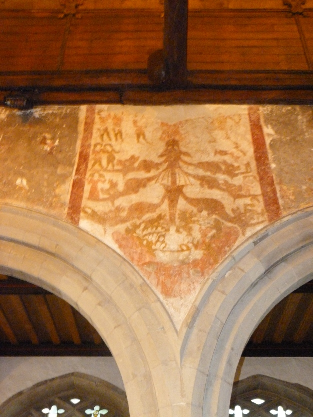 Surviving Medieval wall painting, St Martin, Ruislip