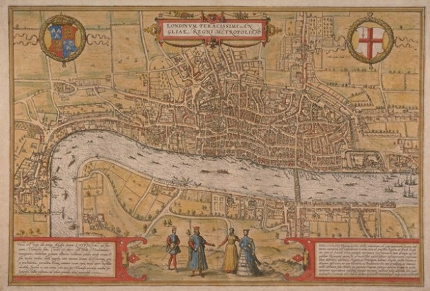 The Braun & Hogenberg map of Tudor London (1572)