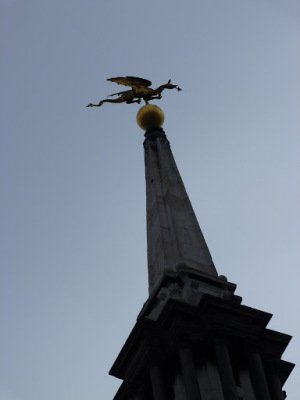 Flying dragon weather-vane