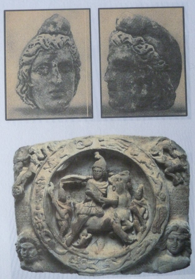 Finds depicting images of Mithras from the Temple of MIthras