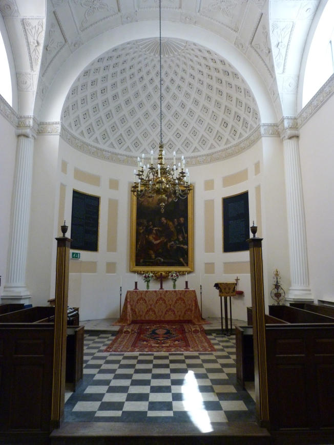 All Hallows London Wall interior