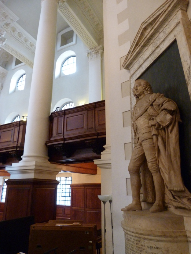 Interior with memorial to Robert Ladbroke (d. 1773)