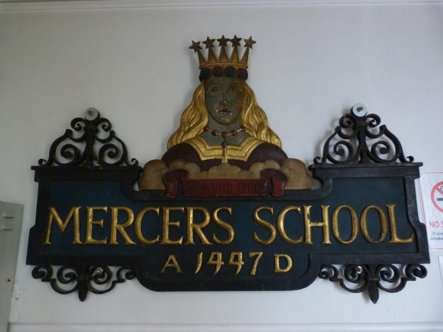 Mercers School sign