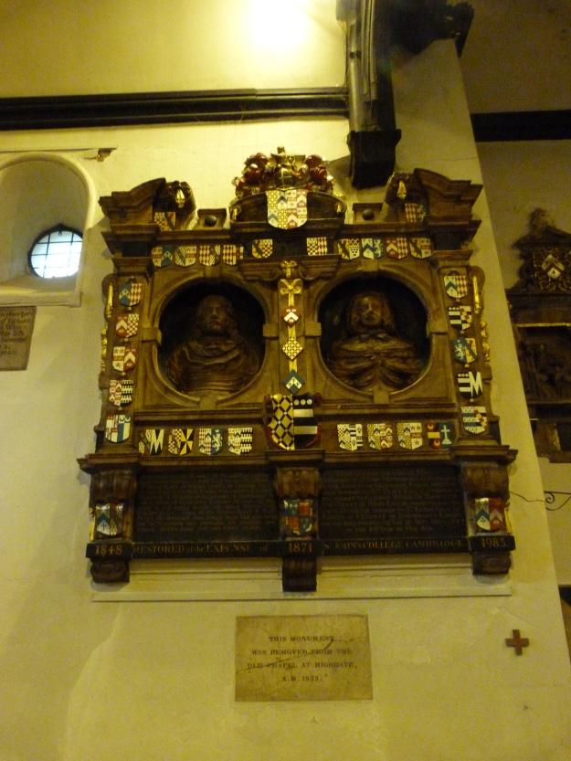 Post-Medieval memorial in interior