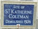 St Katherine Coleman blue plaque