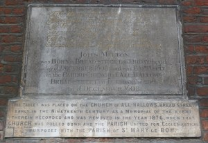 All Hallows Bread Street plaques, St Mary-le-Bow