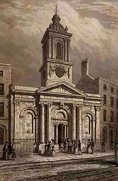 St Peter-le-Poer - as engraved by John Le Keux in 1839