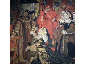 A twentieth-century depiction of Henry and Catherine appearing before Wolsey and the Legatine Court