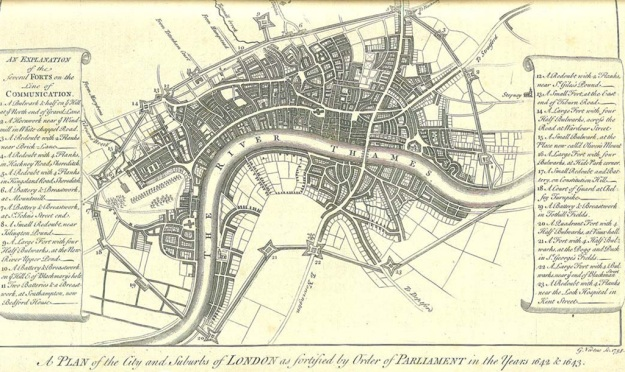 A plan of London's Civil War defences