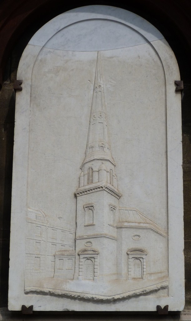 St Antholin plaque on St Mary Aldermary