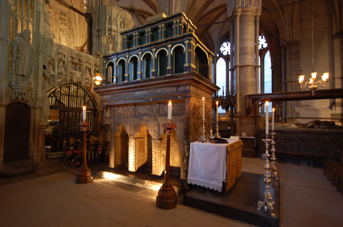 The shrine of Edward the Confessor, Westminster Abbey