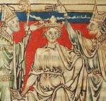 2 - The coronation of William the Conqueror, Westminster Abbey, as depicted by Matthew Paris