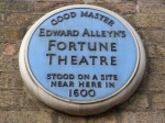 Fortune Theatre plaque