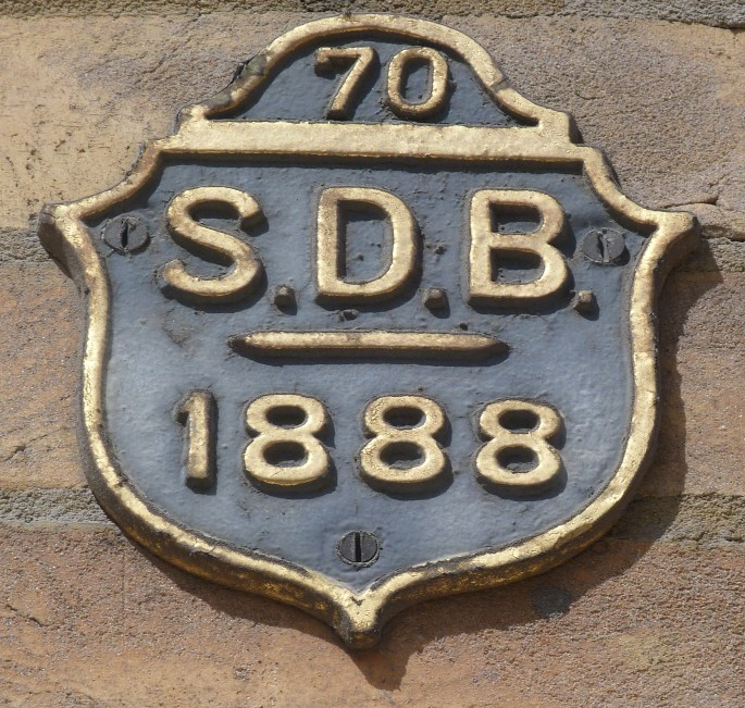 St Dionis Backchurch parish boundary marker