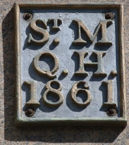 St Michael Queenhithe parish boundary marker