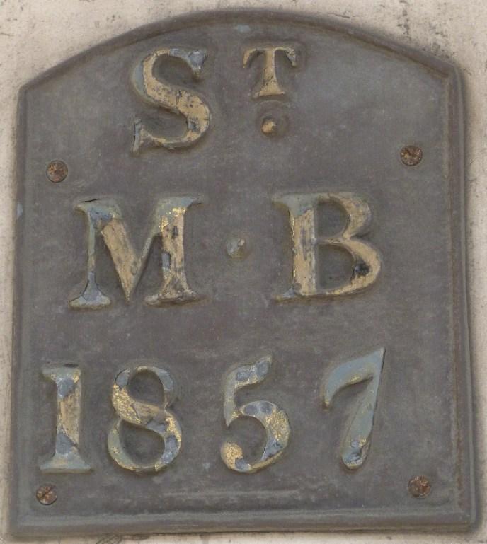 St Mildred Bread Street parish boundary marker