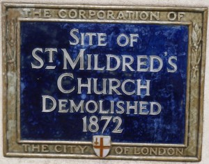 St Mildred Poultry plaque