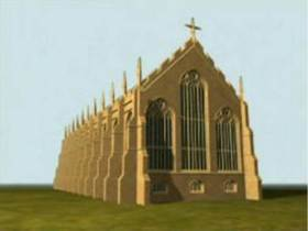 Time Team reconstruction of Bridgettine Monastery Church Syon