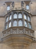 Detail of oriel window in south porch