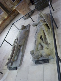 Effigies of knights (William and William Marshall, the First and Second Earls of Pembroke)
