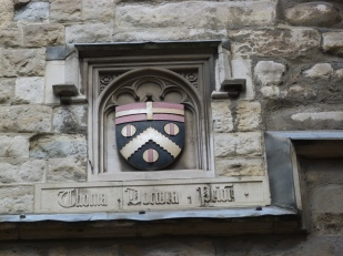 Prior Docwra's coat-of-arms on the gate-house