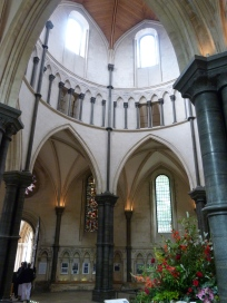 Round Norman nave