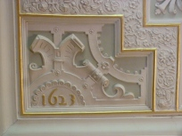 Dated ceiling panel, Drawing Room
