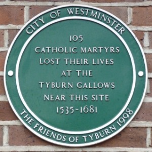 Memorial to Catholic martyrs at Tyburn
