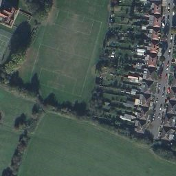 Aerial photograph of Ickenham Manor Farm, clearly showing associated earthworks
