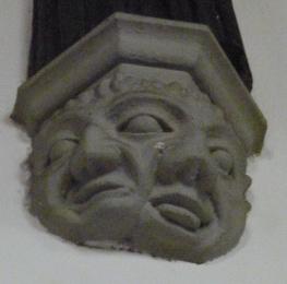 Carved stone corbel