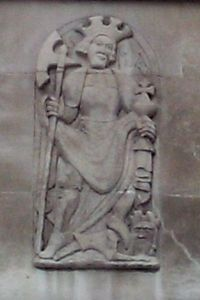 Relief of St Olaf, church of St Olave Hart Street