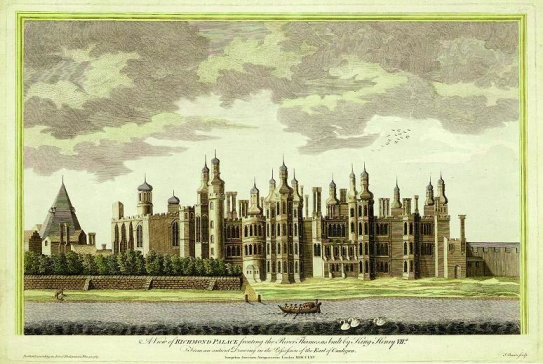 An eighteenth-century view of Richmond Palace based on an ancient drawing