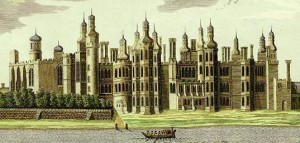 cropped An eighteenth-century view of Richmond Palace based on an ancient drawing