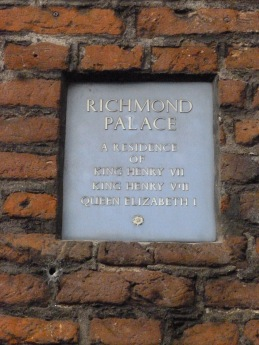 Richmond Palace plaque on Gate-House