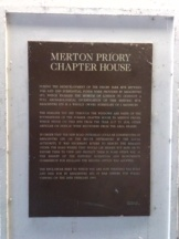 Plaque marking site of Chapter House