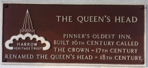 Queen's Head informative plaque
