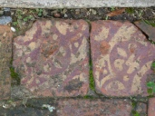Surviving floor tiles