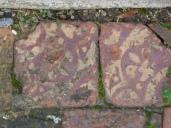 Surviving floor tiles