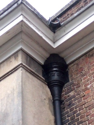 Drainpipe dated 1715