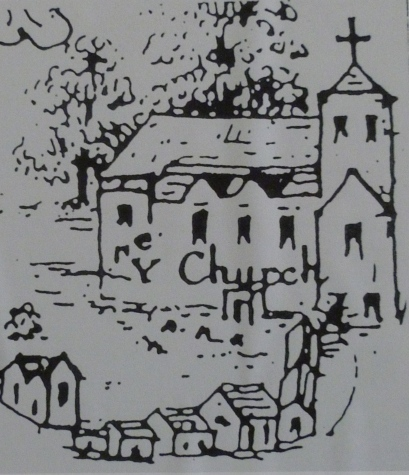 The church in 1635 (from Moses Glover's Map of the Isleworth Hundred)