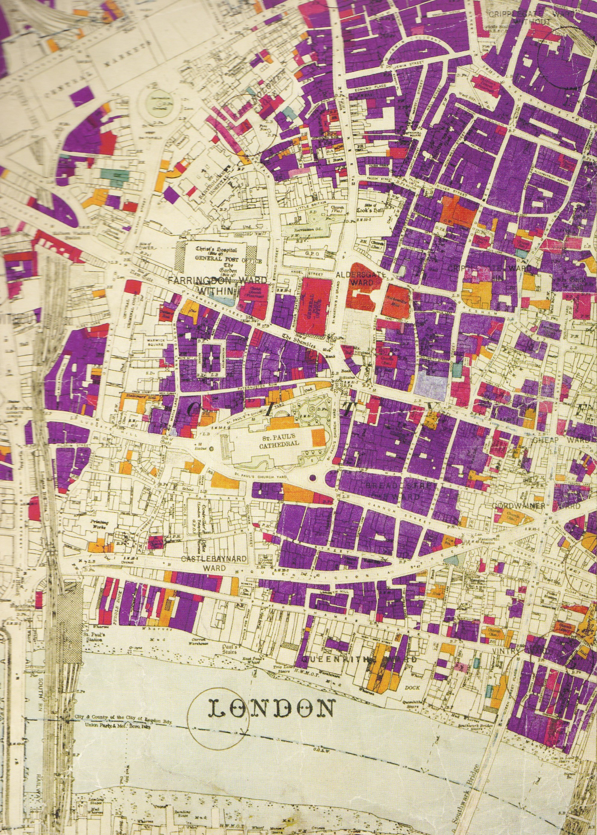 The London Blitz And The London County Council Bomb Damage Maps - London map 1945