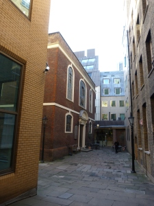 Exterior of Bevis Marks Synagogue