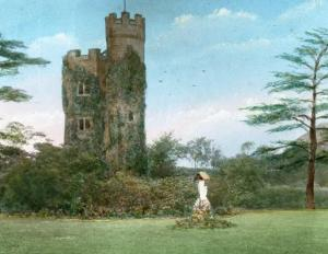 Lantern slide of Boleyn Castle