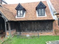 2 - South side of Saxon nave (with Tudor roof and Victorian windows)