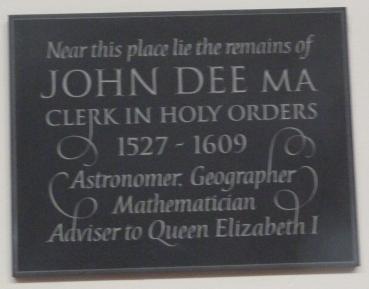6 - John Dee memorial (d. 1609)