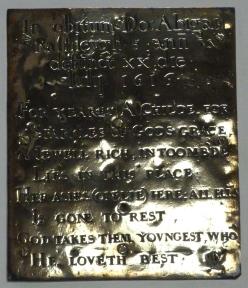 7 - Abigail Rashleygh memorial (d. 1616)