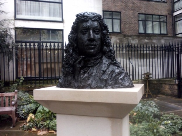 Bust of Pepys, church of St Olave Hart Street - Copy